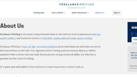 Entry level freelance writing jobs for beginners to start freelance careers