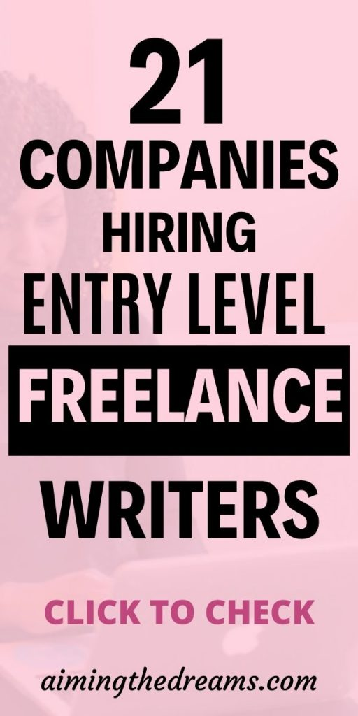 21 companies to find entry level freelance writing jobs