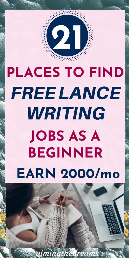 How to find freelance writing jobs as a beginner