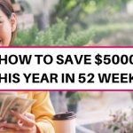 How to save $5000 this year: 52-week money-saving challenge