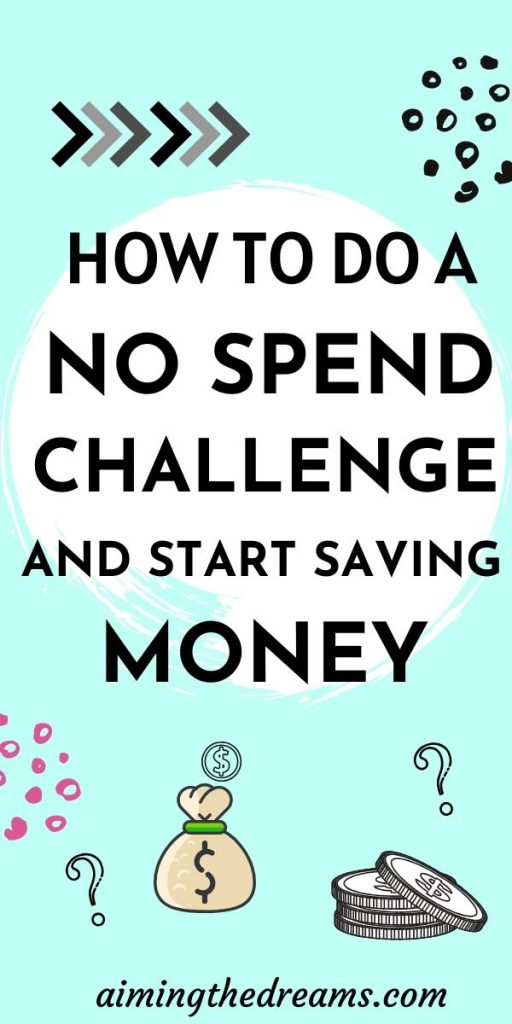 How to do a no spend challenge and start frugal living journey