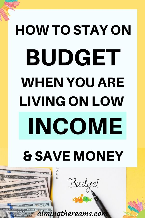how to stay on budget and save money
