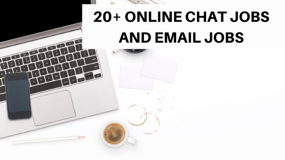 Online chat jobs to work from home