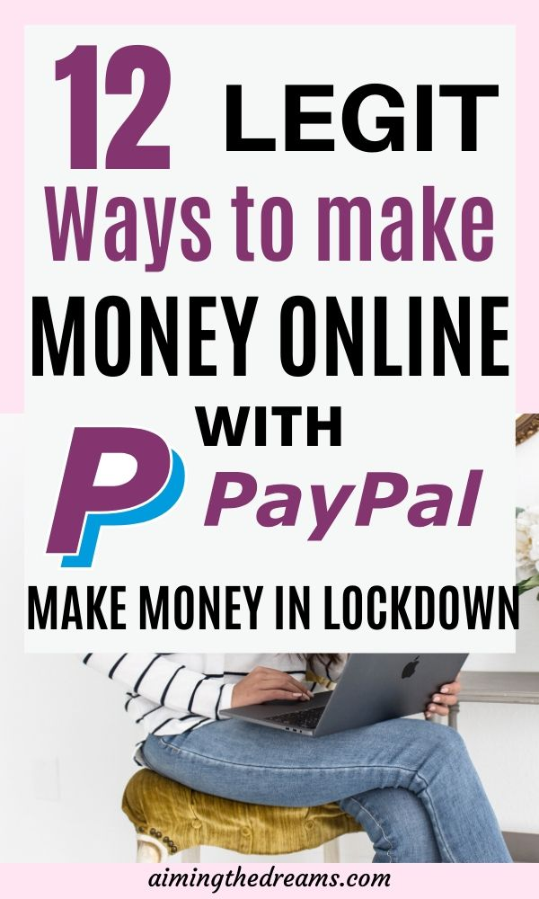 Make money online with Paypal while sitting at home