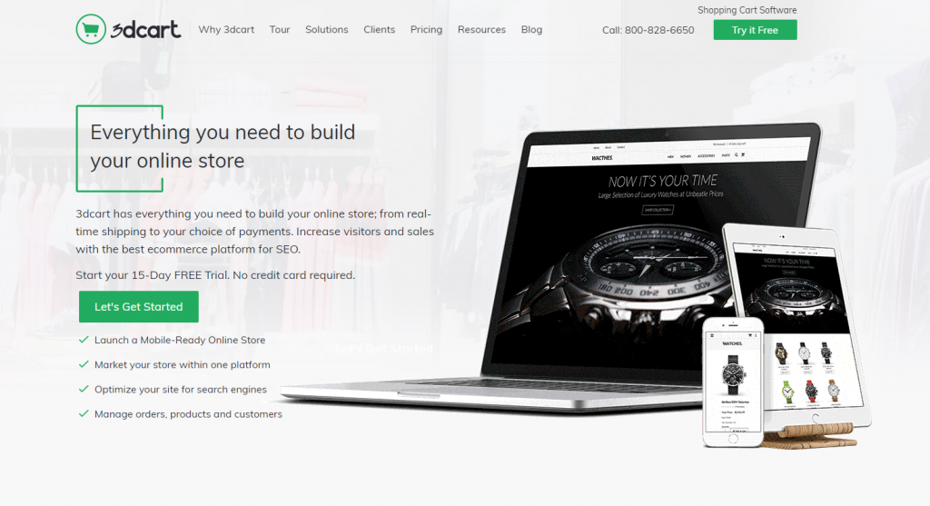 3dcart is best eCommerce platform for online stores